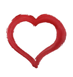 red paint heart vector image vector image
