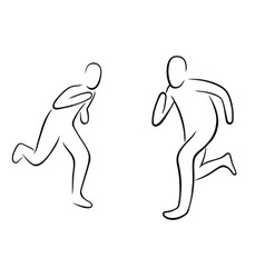 running gestures vector image