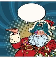 Santa Claus pirate presentation gesture vector image vector image