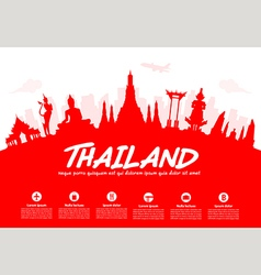 Thailand travel landmarks vector