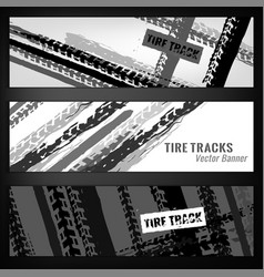 Tire banner template vector