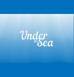 Underwater background vector
