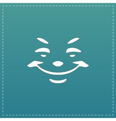 Universal smiling icon freehand drawing vector