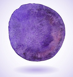 Violet isolated watercolor paint circle vector