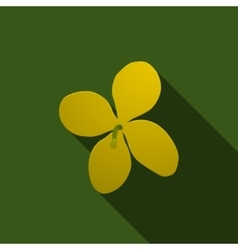 Yellow celandine on a green background vector