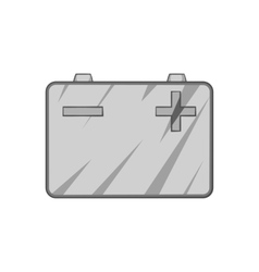 Machine battery icon black monochrome style vector
