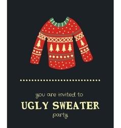 sweater invitation vector image