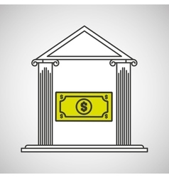 bank building save money dollar vector image