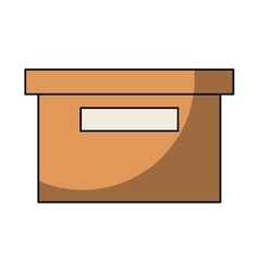 Office packing box isolated icon vector
