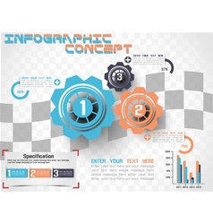 INFOGRAPHIC MODERN STYLE GEAR 2 vector image