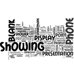 Showing word cloud concept vector