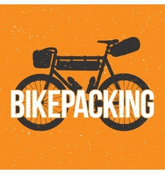 Bikepacking vector
