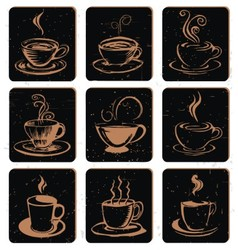 Abstract coffee cup icon vector
