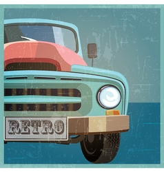 Retro pickup vector