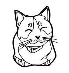 Sketch of the cat on white background vector