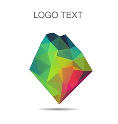 Triangle logo or icon of stone vector