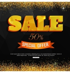 Sale background with gold dust super sale vector