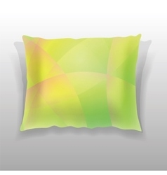 Colorful pillow isolated vector