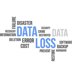 Word cloud data loss vector