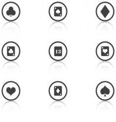 Vector set grey icons casino vector