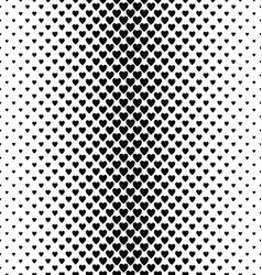 Abstract monochrome vertical heart pattern design vector image