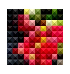 Amaranth red abstract low polygon background vector