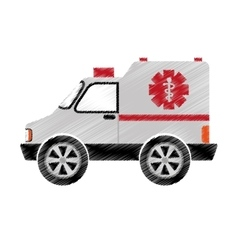 Ambulance medical vehicle icon vector