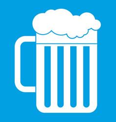 beer mug icon white vector image
