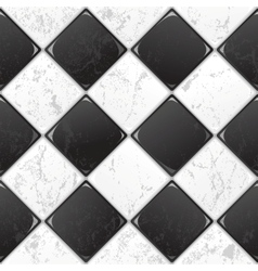 black and white tile vector image vector image