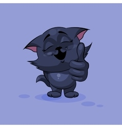 Black cat thumb up vector