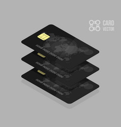 black credit cards for banking app or site vector image vector image
