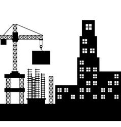 buildings under construction icon vector image