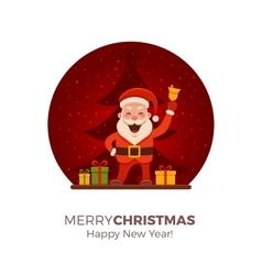 Cartoon Santa Claus vector image