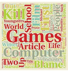 Computer games in the child s life text background vector