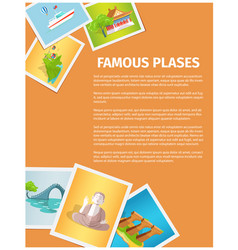 Concept of famous places in taiwan on photographs vector