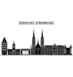France grand est strasbourg architecture vector