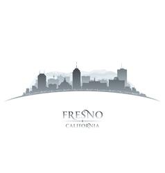 Fresno California city skyline silhouette vector image