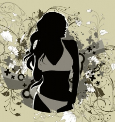 girl vector image vector image