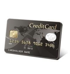 Gold credit card vector