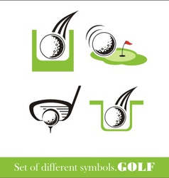 Golf icon symbol vector image vector image