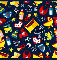good night children bedroom dcoration pattern vector image vector image
