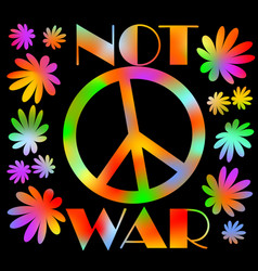 International symbol of peace disarmament anti vector