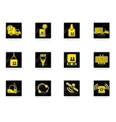 Logistics icons set vector image vector image