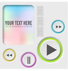 music web elements collection vector image