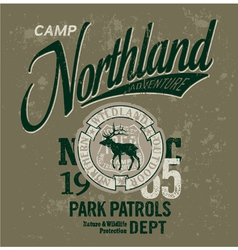 Northland adventures vector image