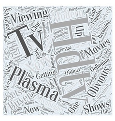 Plasma hdtv word cloud concept vector