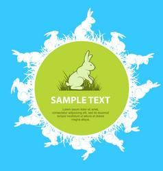 rabbits text vector image vector image