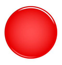 red circle button blank web internet icon vector image vector image