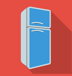 Refrigerator icon in flate style isolated on white vector