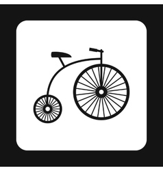 Retro bike icon simple style vector
